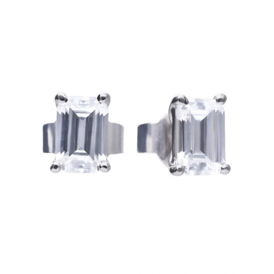 Picture of Emerald Cut Stud Earrings