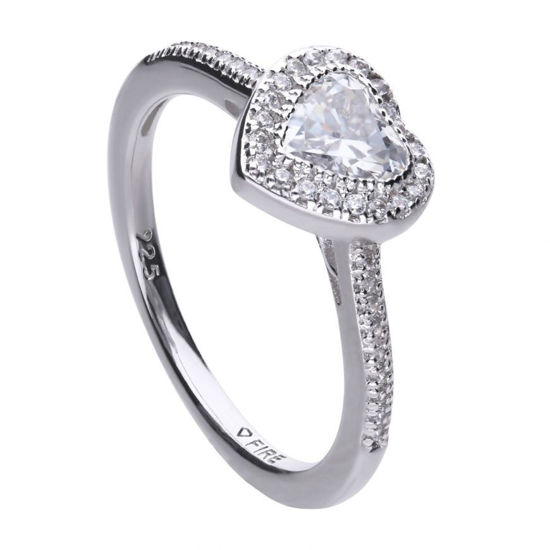 Picture of Heart Pave Set Ring