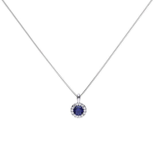 Picture of Blue Round 1.21 Ct Pave Pendant