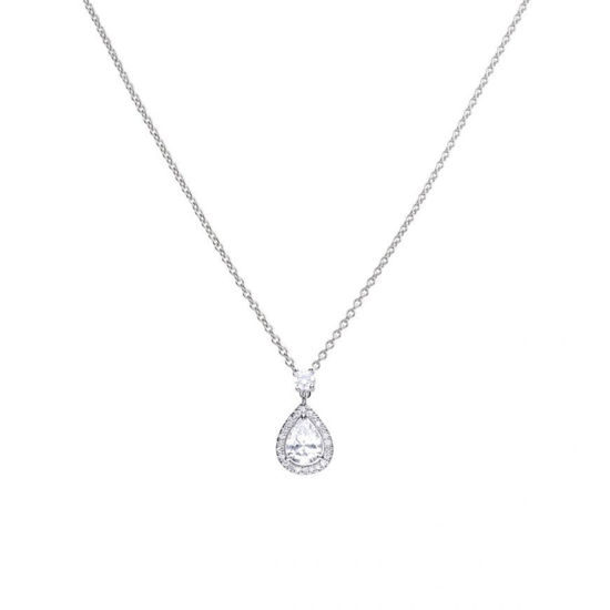 Picture of Pendant Silver With Teardrop C.Z