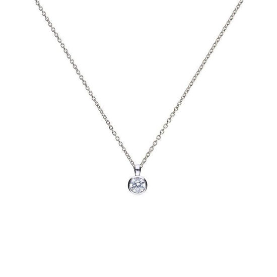 Picture of Solitaire 0.5ct Bezel Set Pendant
