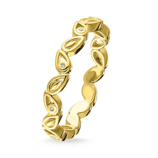 Picture of Gold Diamond Leaf Ring