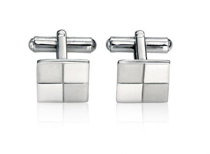 Picture of Stainless Steel Brushed & Polished Cufflink