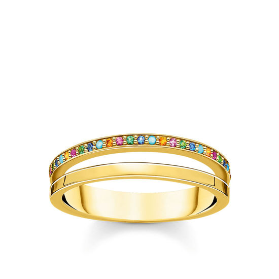 Picture of Double Band Colourful Stone Band