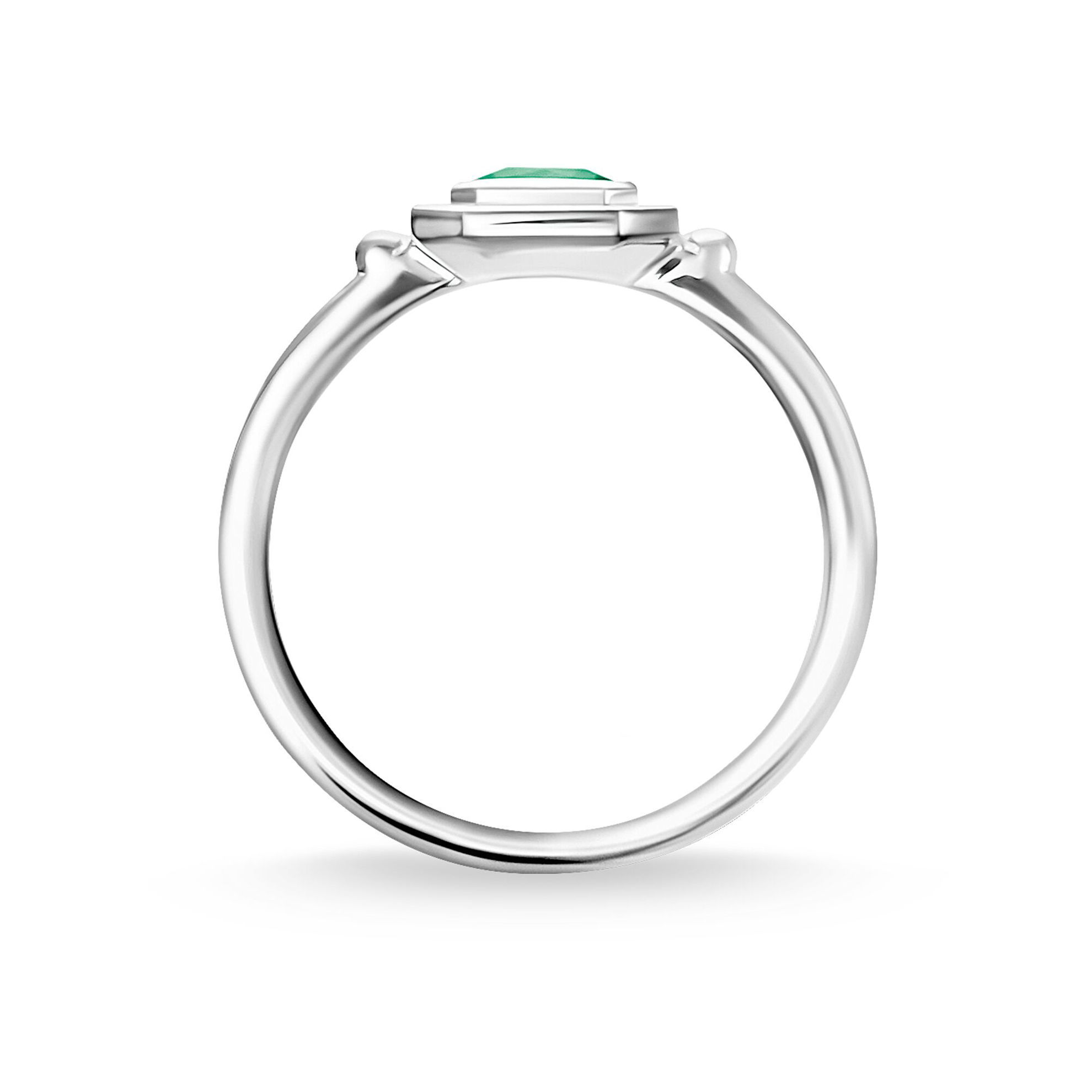 Picture of Green and Pink Ring in Silver