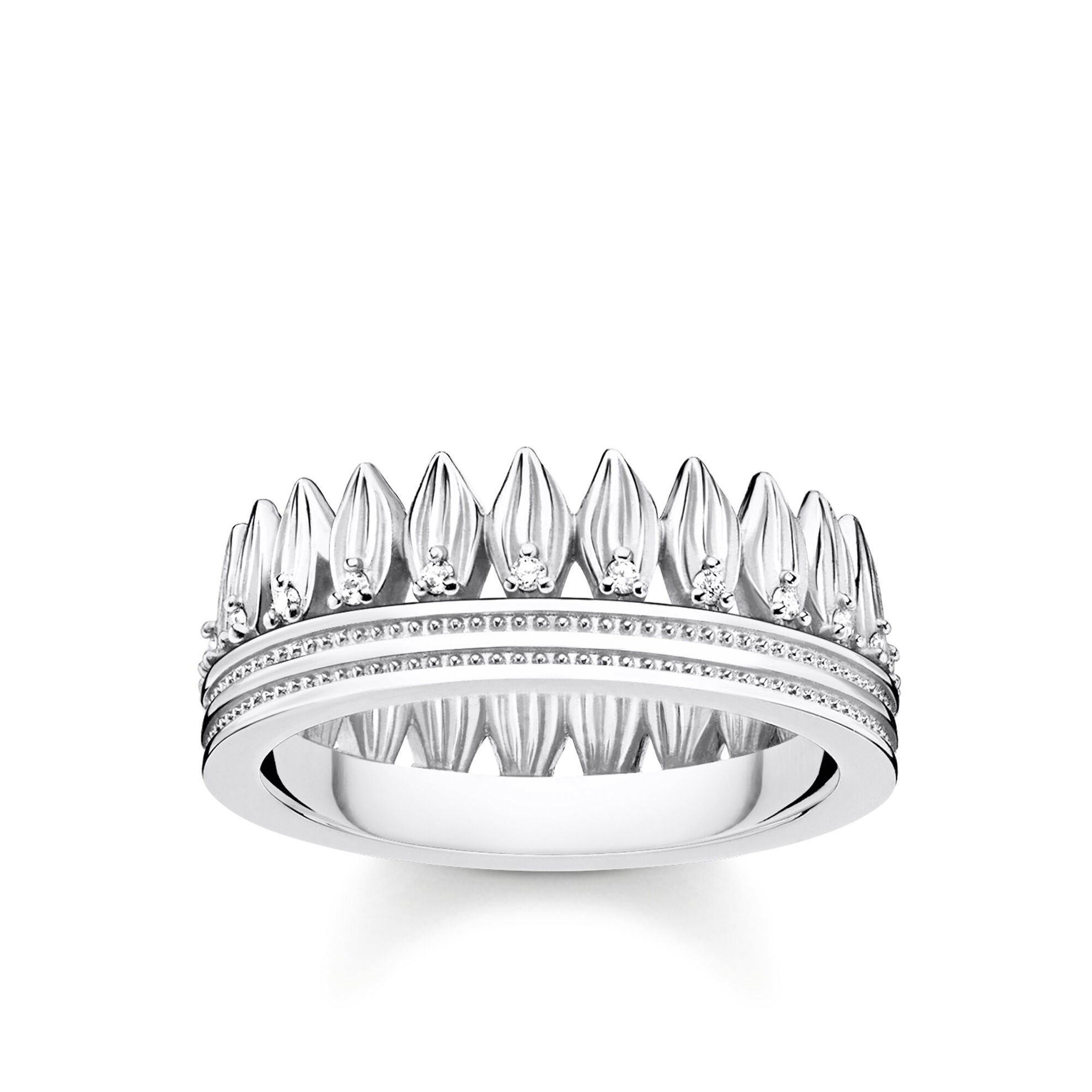 Picture of Leaves Crown Ring in Silver