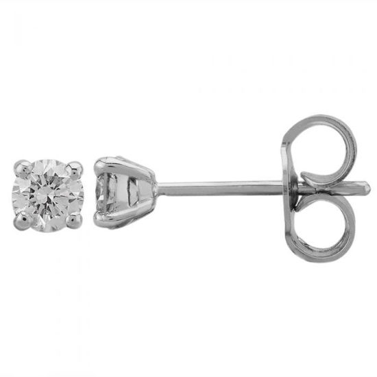 Picture of White Gold 0.40ct Claw-set Diamond Stud Earrings