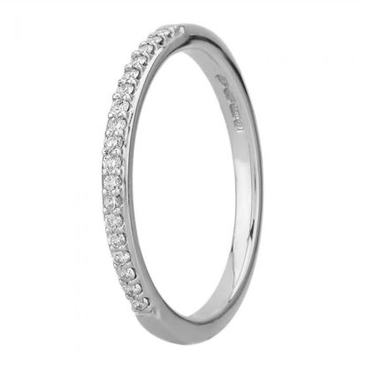 Picture of White Gold 2mm Narrow Pavé-set Diamond Ring