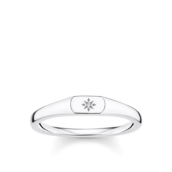 Picture of Small Star Signet Ring
