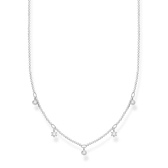 Picture of White Stone Drop Necklace