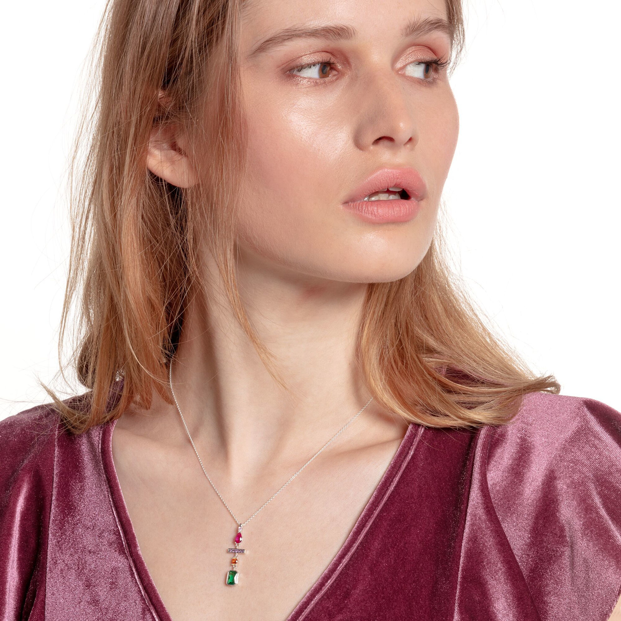 Picture of Colourful Drop Necklace