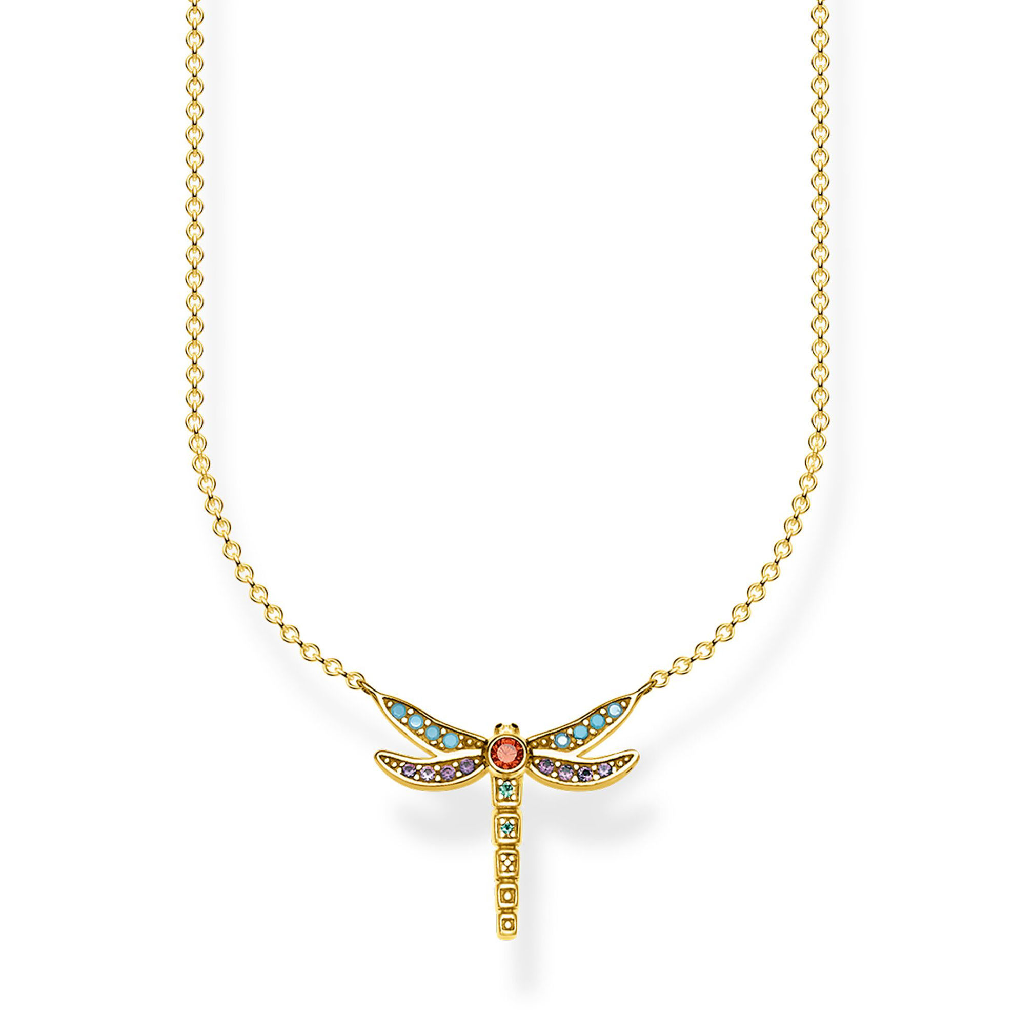 Picture of Colourful Dragonfly Necklace