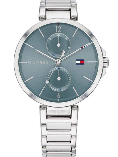 Picture of Angela Stainless Steel Blue Day Date Dial Bracelet Watch