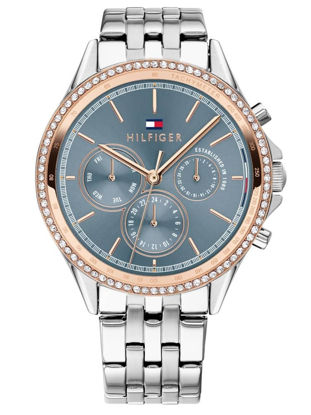 Picture of Ari Rose Gold Plated Two Tone Grey Chronograph Dial Bracelet Watch