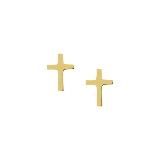 Picture of 9ct Cross Ear Studs