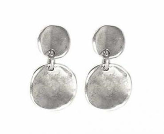 Picture of Round Silver Earrings