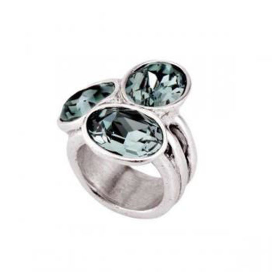 Picture of Triple Safire Swarovski crystal Ring - Treasure
