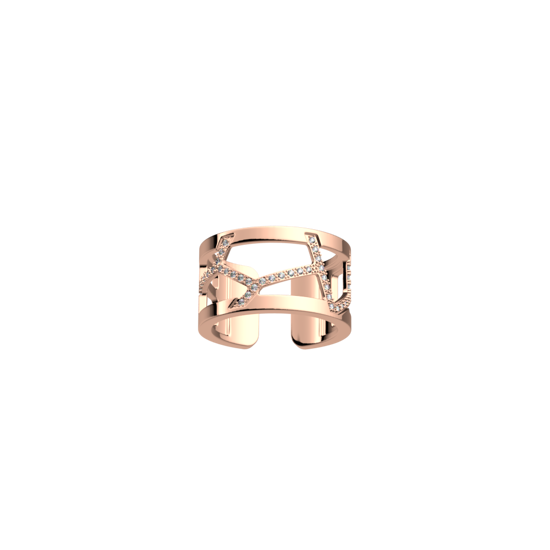 Picture of Girafe ring 12 mm Rose gold finish