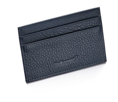 Picture of Leather Cardholder in Navy