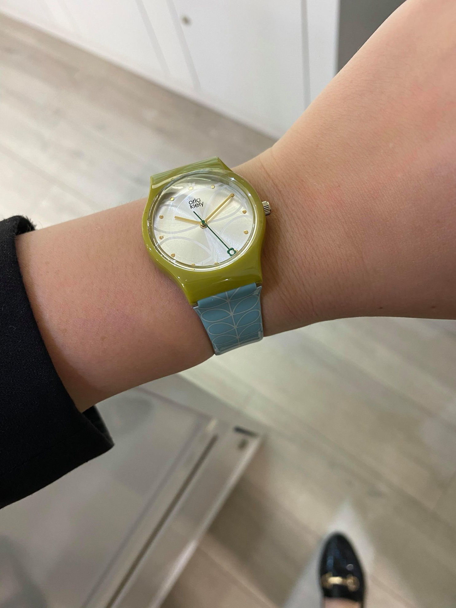 Picture of Orla Kiely Ladies Bobby Sky Blue Linear Print Watch