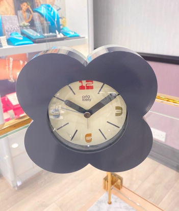Picture of Orla Kiely Charcoal Grey Alarm Clock