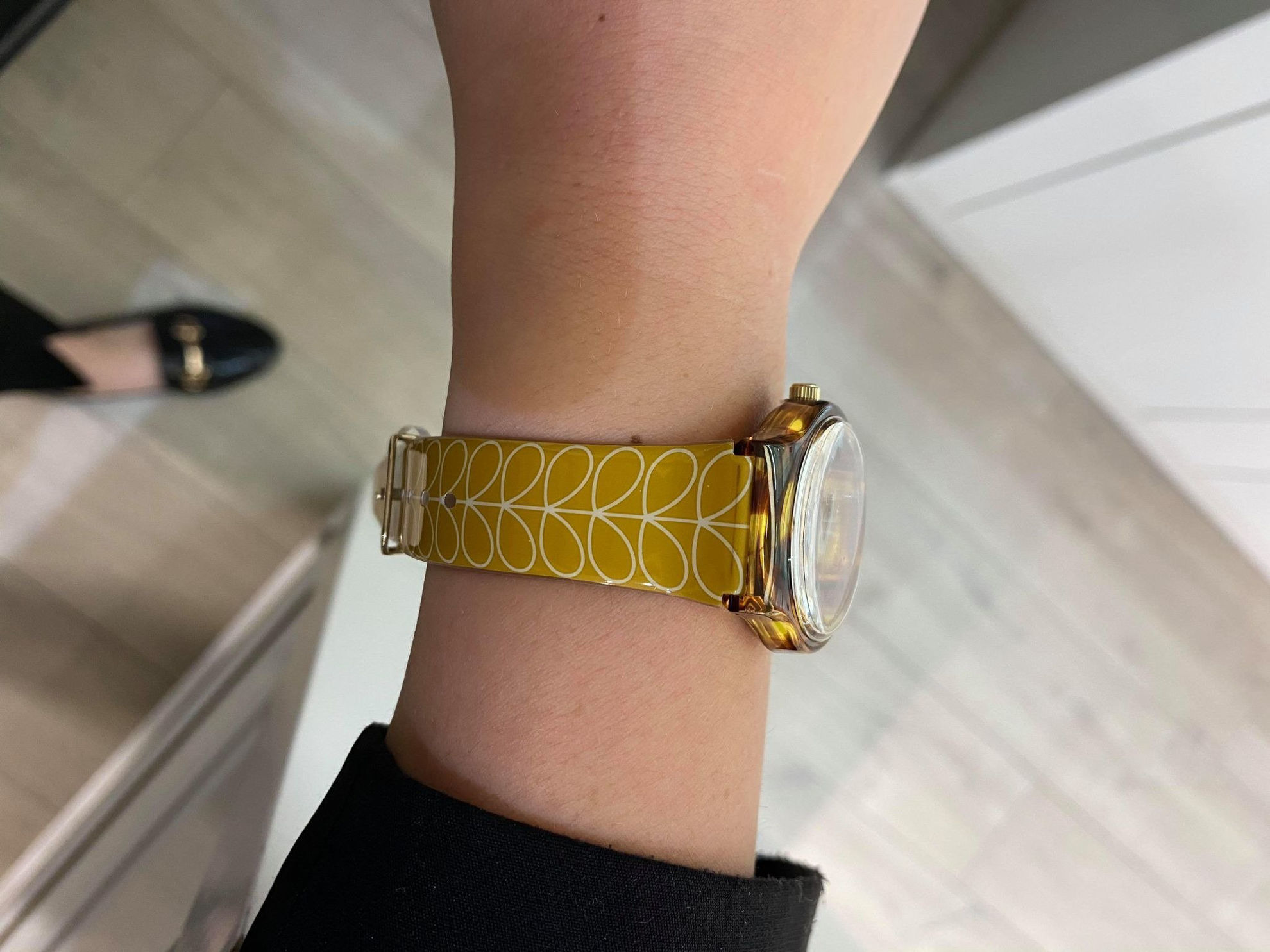 Picture of Orla Kiely Bobby Watch in Mustard