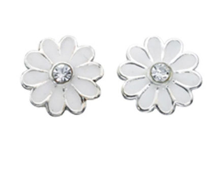 Picture of White Daisy Studs