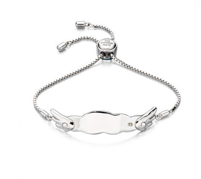 Picture of Angel Wings Toggle Diamond Bracelet