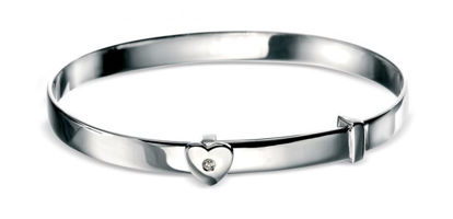Picture of Diamond Heart Baby Bangle