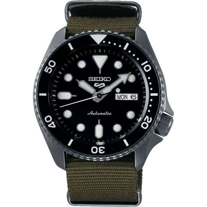 Picture of Seiko 5 Sport Automatic Watch with Khaki Fabric Strap