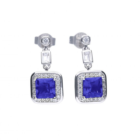 Picture of Art Deco Style Sapphire Pave Earrings