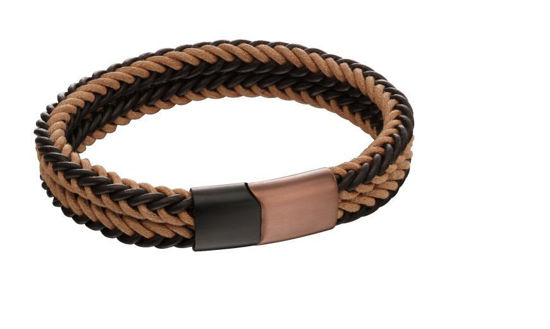 Picture of Brown Woven Dual Colour Clasp Bracelet