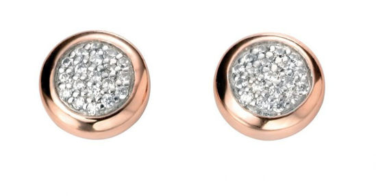 Picture of Pave Set Rose Gold Ear Studs