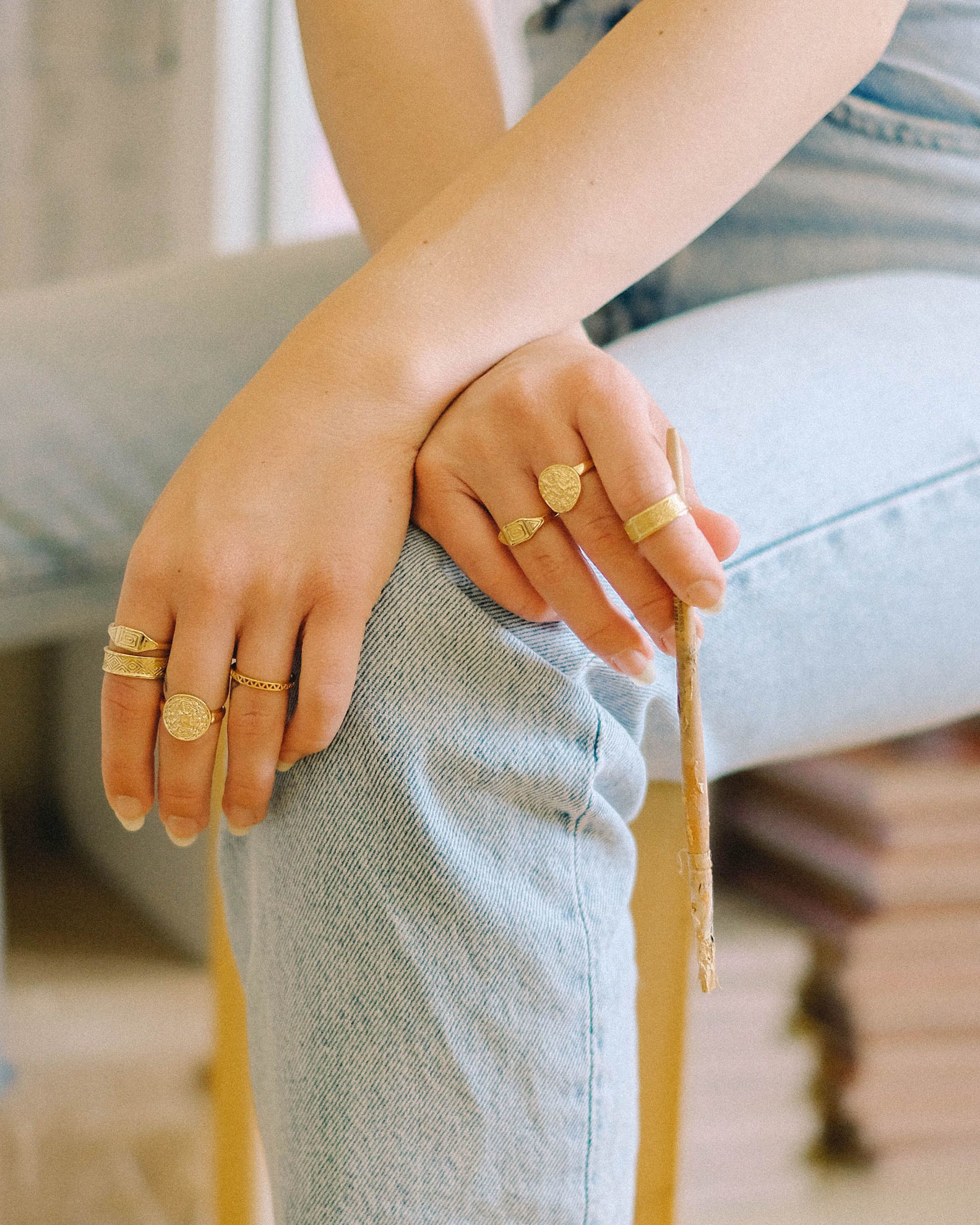 Picture of Artisan Woven Ring 18ct Gold Plate