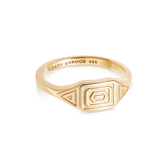 Picture of Artisan Stamped Ring 18ct Gold Plate