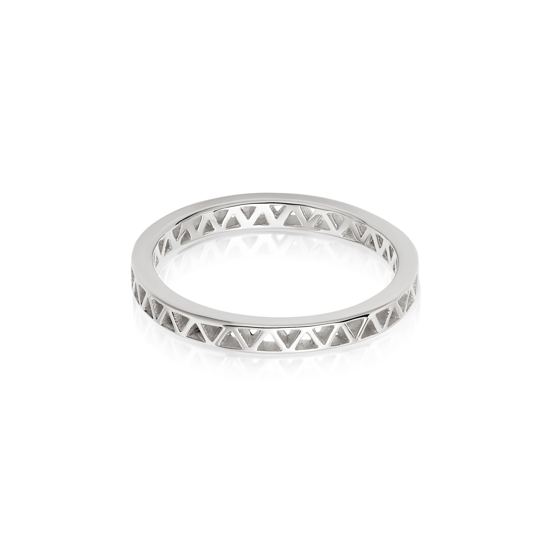 Picture of Artisan Stamped Stacking Ring Sterling Silver