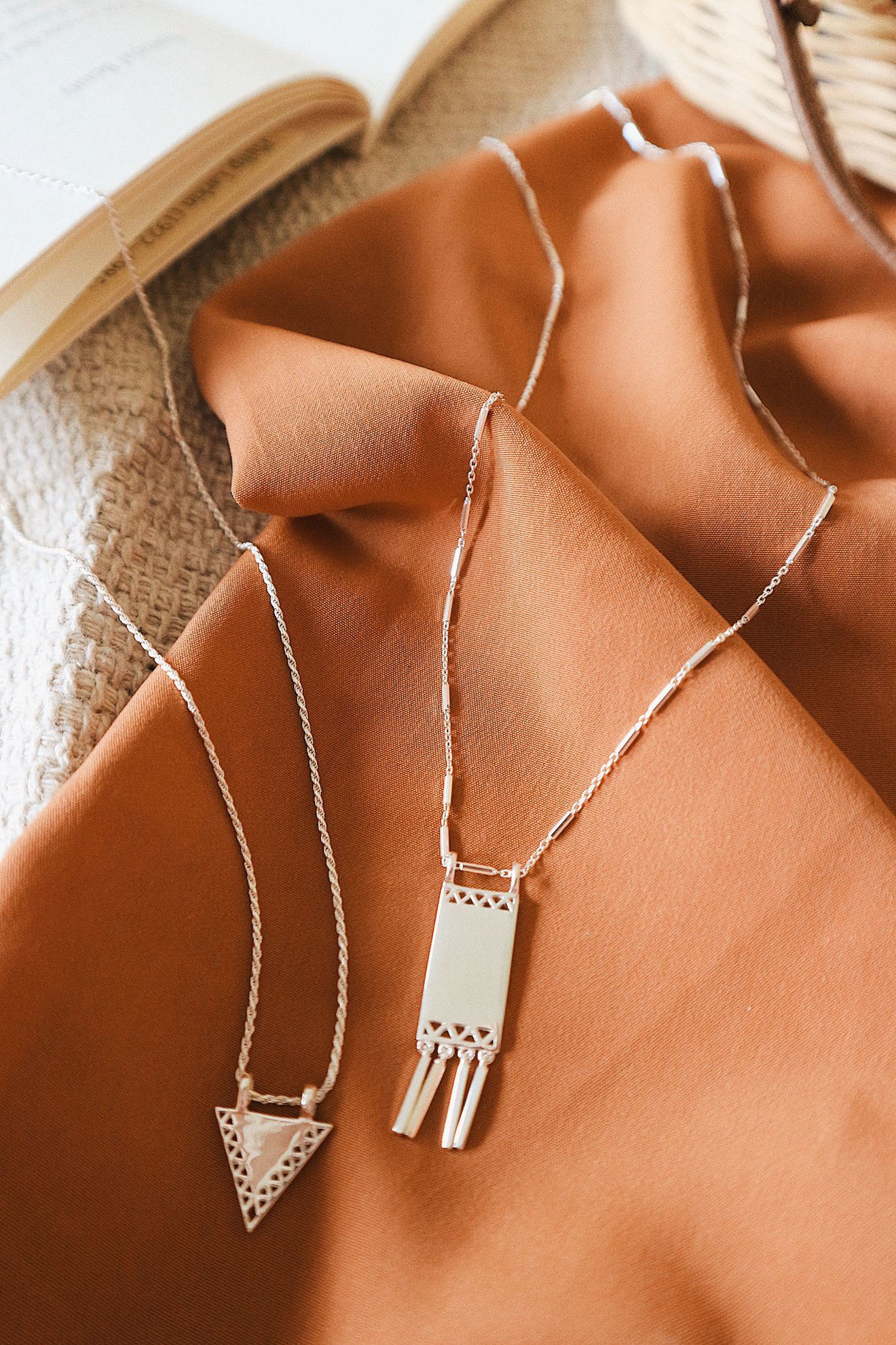 Picture of Artisan Tapestry Necklace Sterling Silver
