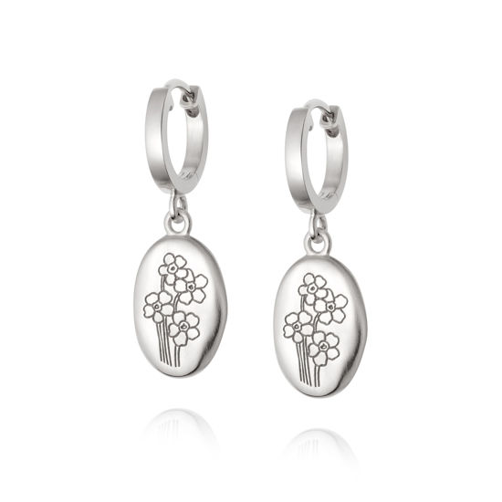 Picture of Floriography Forget Me Not Drop Earrings Sterling Silver