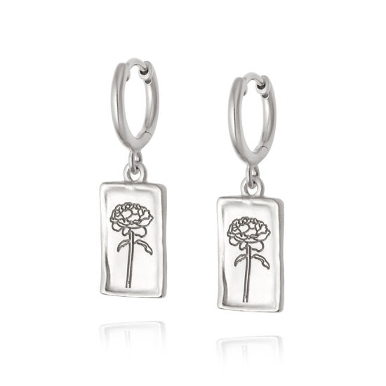 Picture of Floriography Rose Drop Earrings Sterling Silver