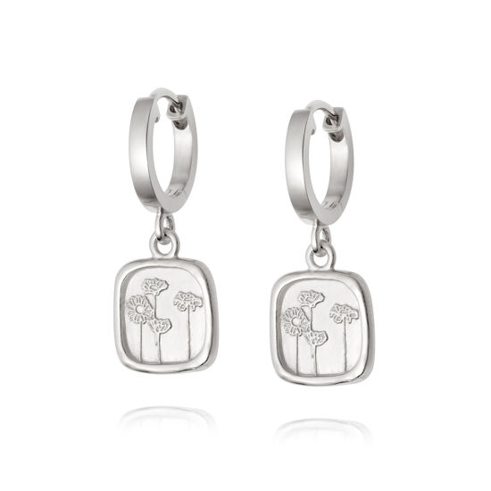 Picture of Floriography Wild Daisies Drop Earrings Sterling Silver
