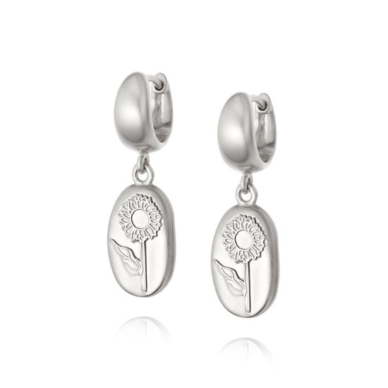 Picture of Floriography Sunflower Drop Earrings Sterling Silver